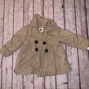 Toddler Girls Peacoat Old Navy Size 12-18 Months